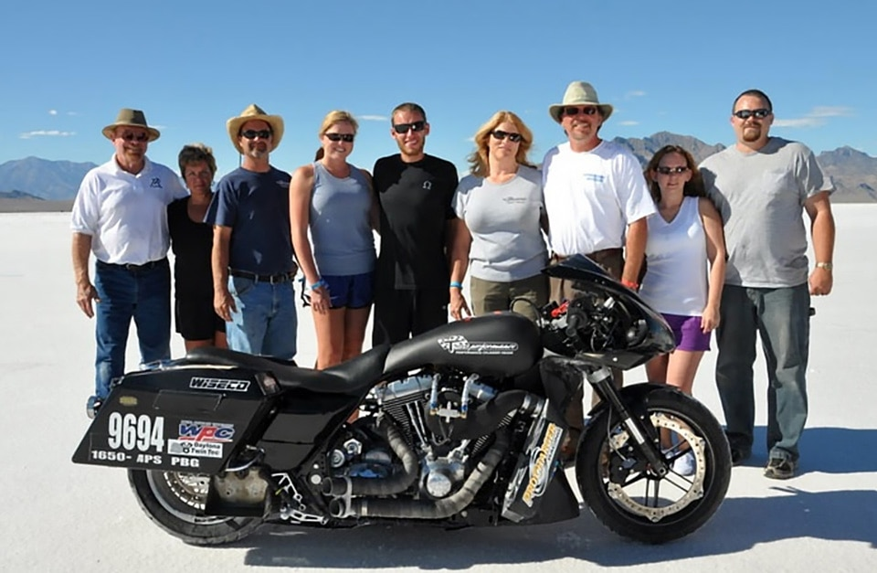 Supercharged Harley-Davidson Twin Cam FLH