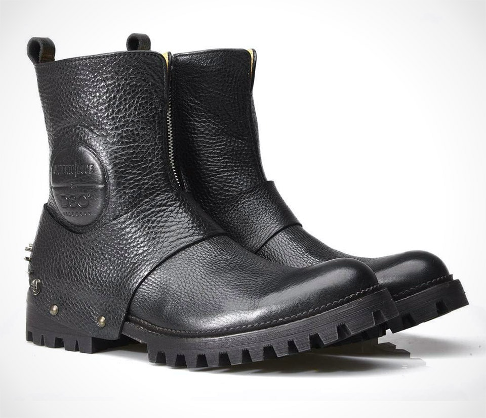 Umberto Luce Travolta Motorcycle Boots With Ankle Protection
