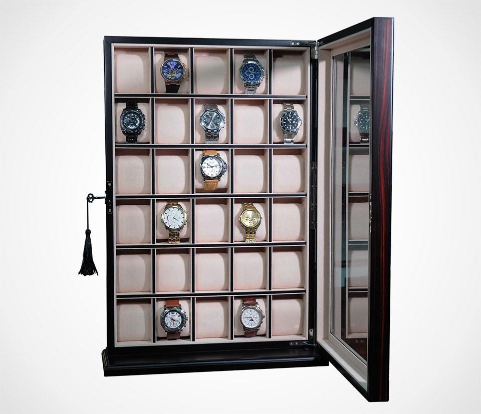 Ebony Wall Watch Display by Timelybuys