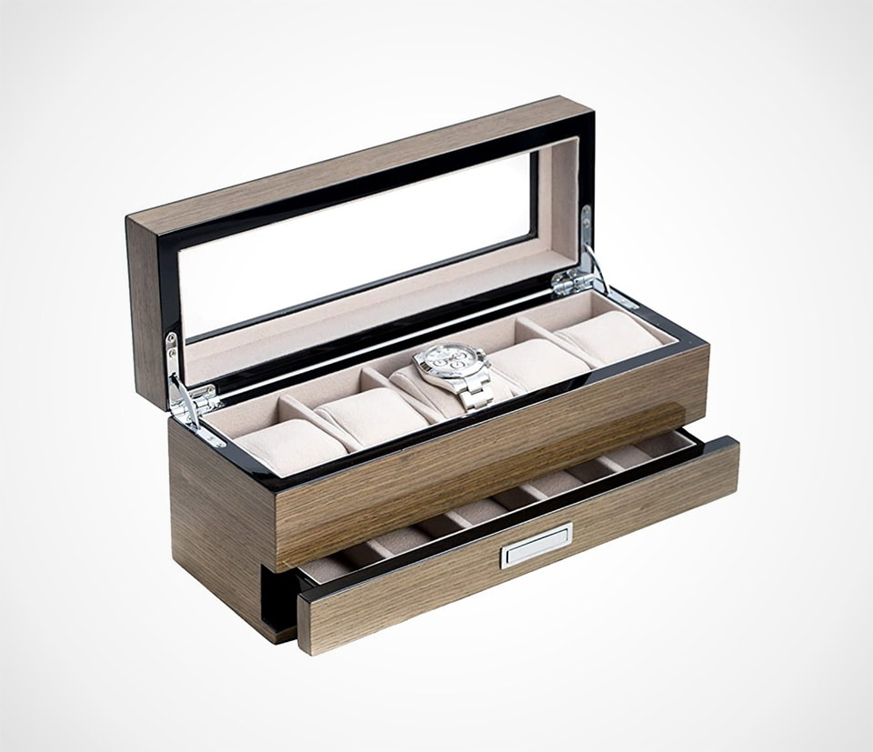 Grey Wood watch Box