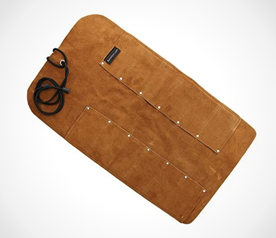 Leather tool roll for woodcarving tools By Ramelson