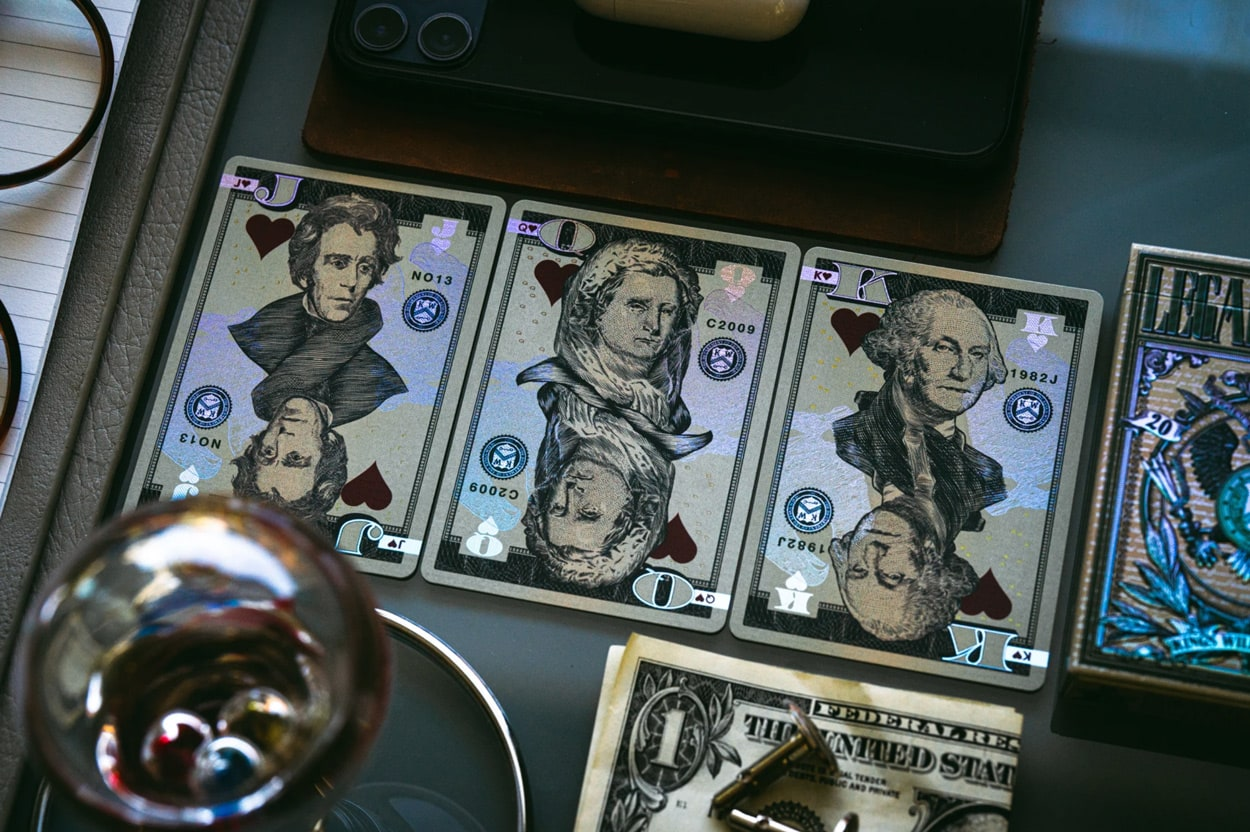 Luxury Playing Cards: Legal Tender Holographic Edition