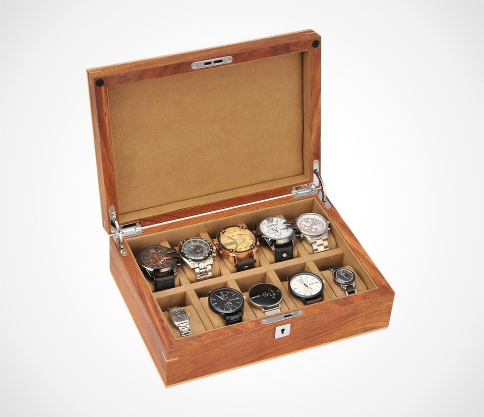 Solid rosewood watch box