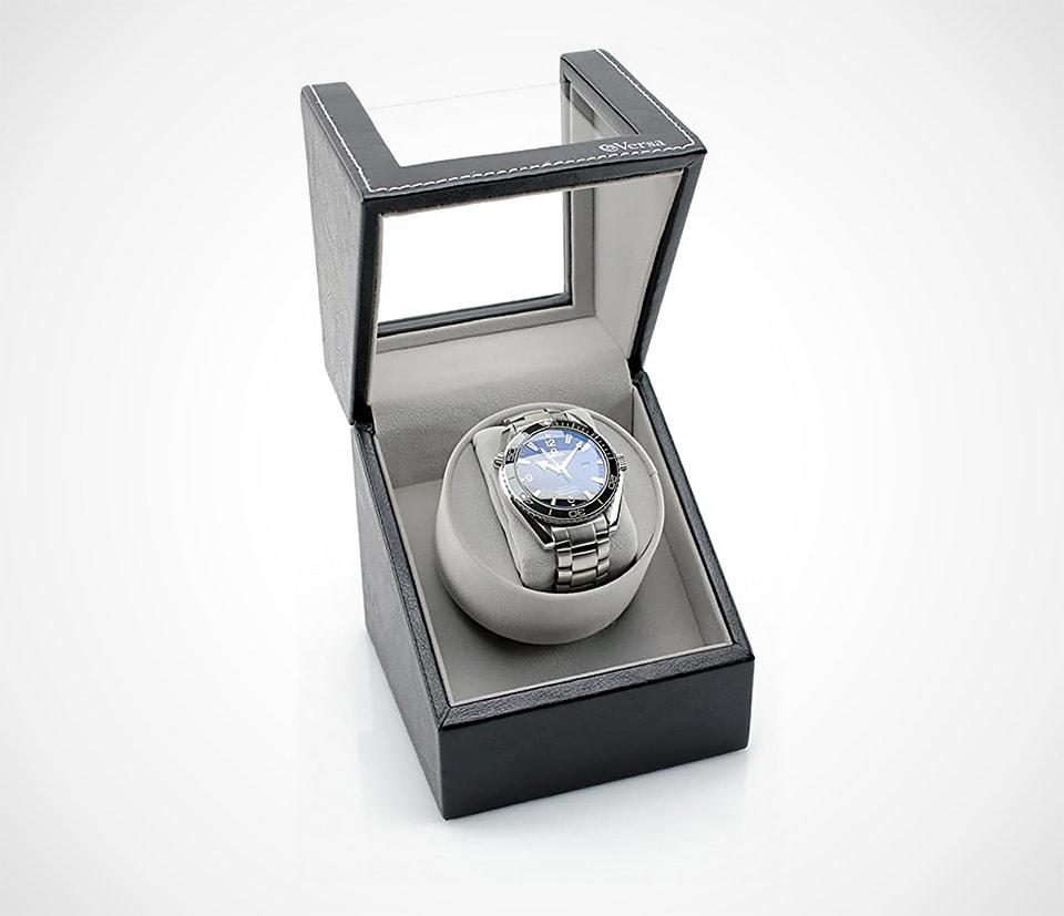 Versa Elite Black Leather Single Watch Winder