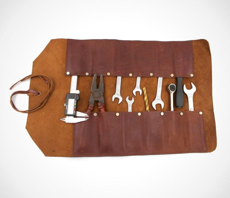 Vintage style and rustic tool roll by REPLICARTZ
