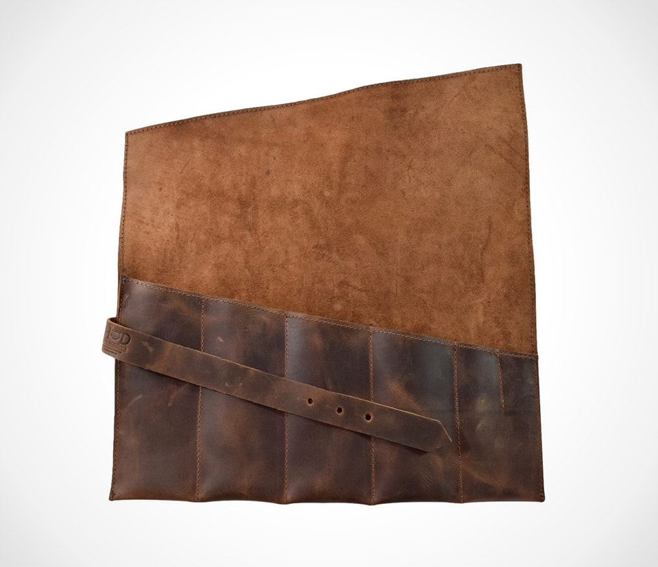 Hide & Drink, Rustic Leather Large Tool Roll Up Bag