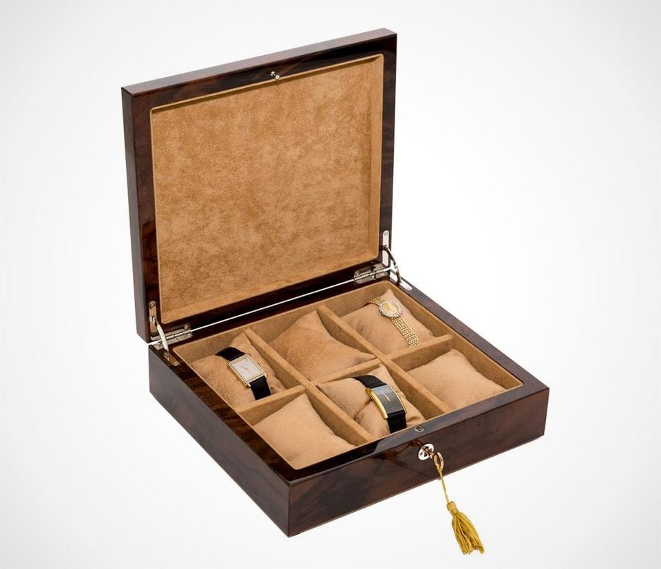 wooden watch box Handmade Italian luxury