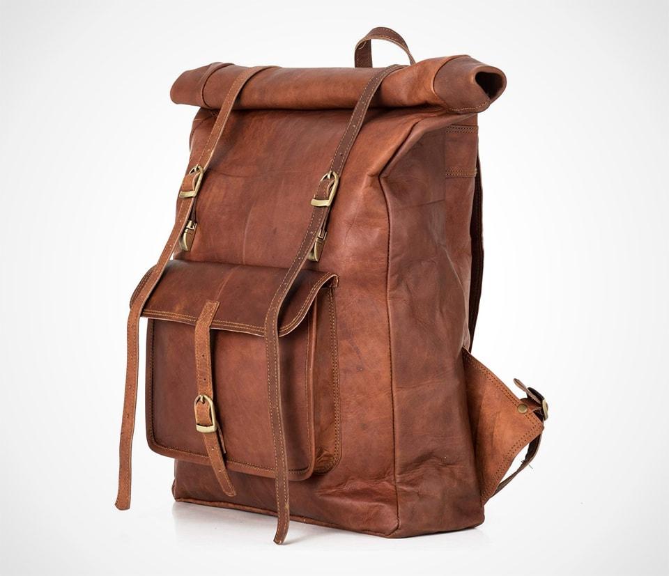Vintage Leather Leeds XL Backpack