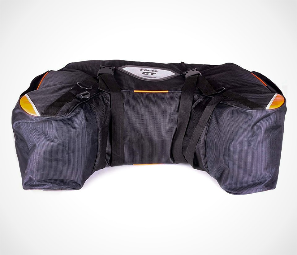 Horseshoe-style luggage for motorcycle