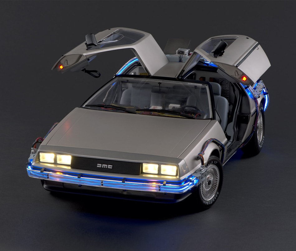The Iconic Back to the Future 1:8 Scale DMC DeLorean From Eaglemoss