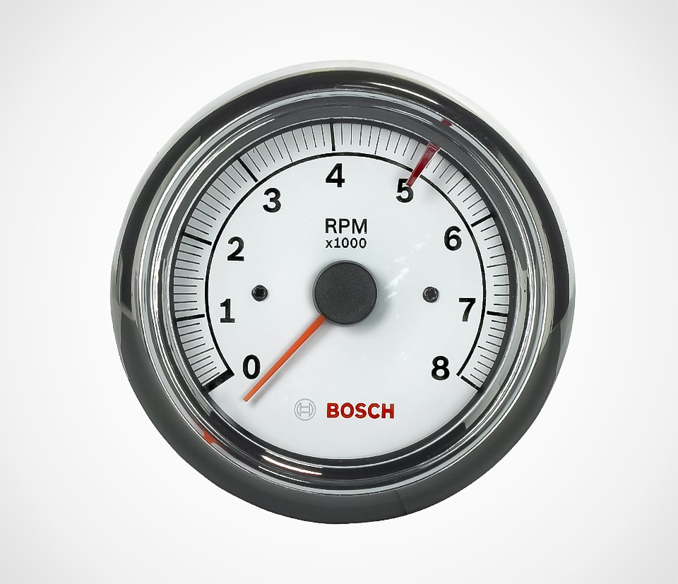 Actron Bosch Sport II White Face Tachometer