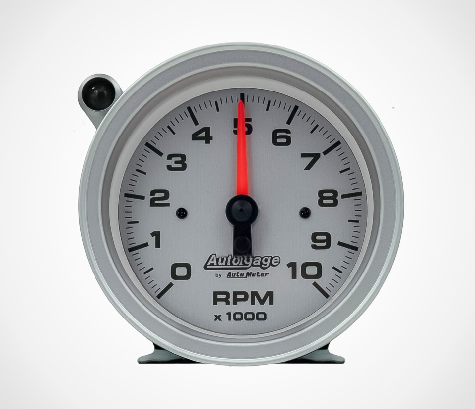 Auto Meter Autogage Tachometer With Shift Light and silver dial