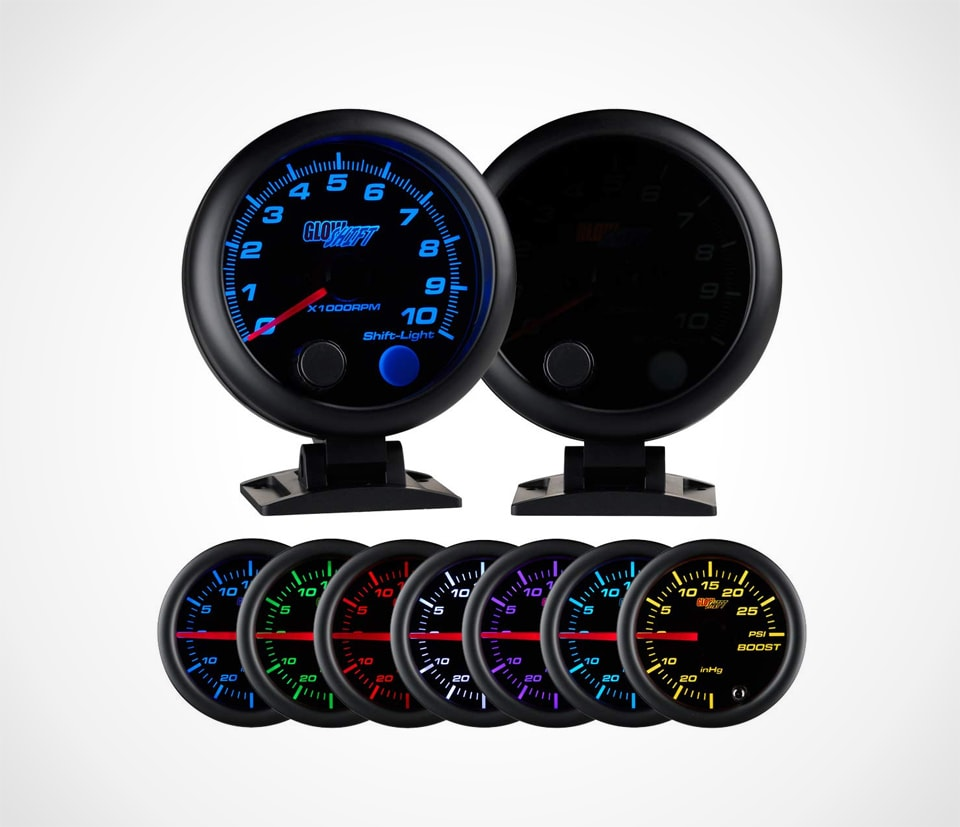 GlowShift 7-Color Dash Mount Tachometer with Shift Light