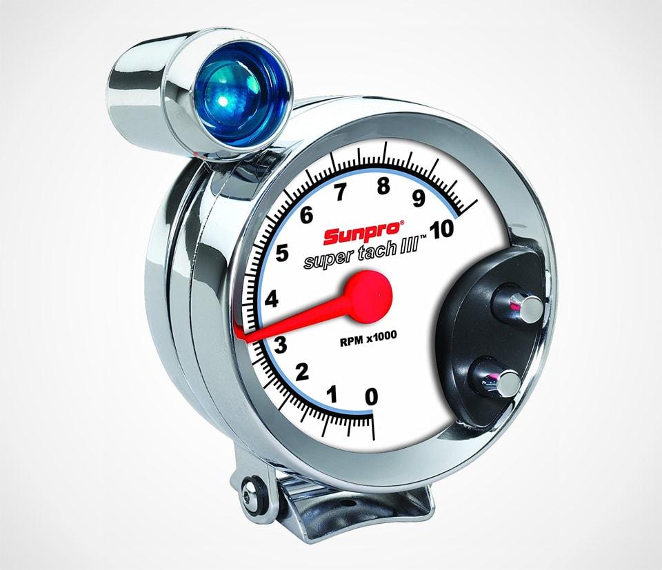Sunpro Super Tach III 5 inch Tachometer with Shift Light
