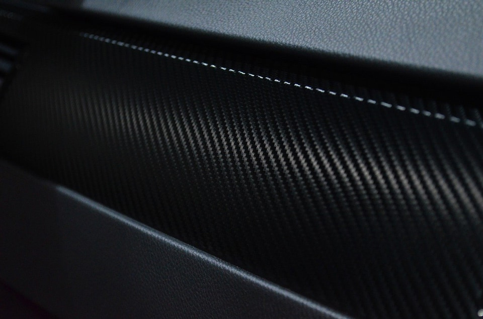 Carbon vinyl wrap
