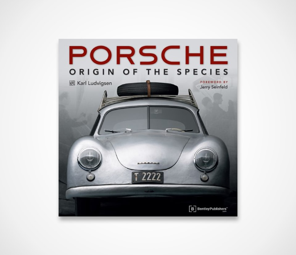 Porsche books Origin of the Species with Foreword by Jerry Seinfeld