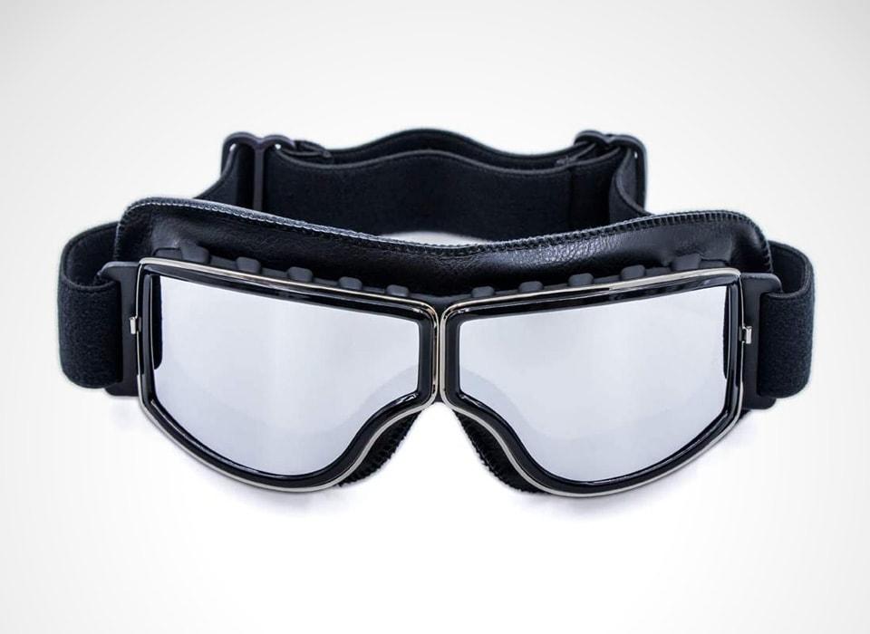 Anti scratch leather bike goggles