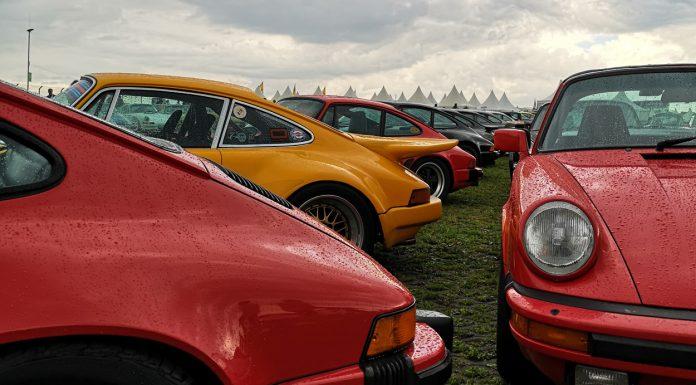 Porsche 911's parked at the Nürburgring