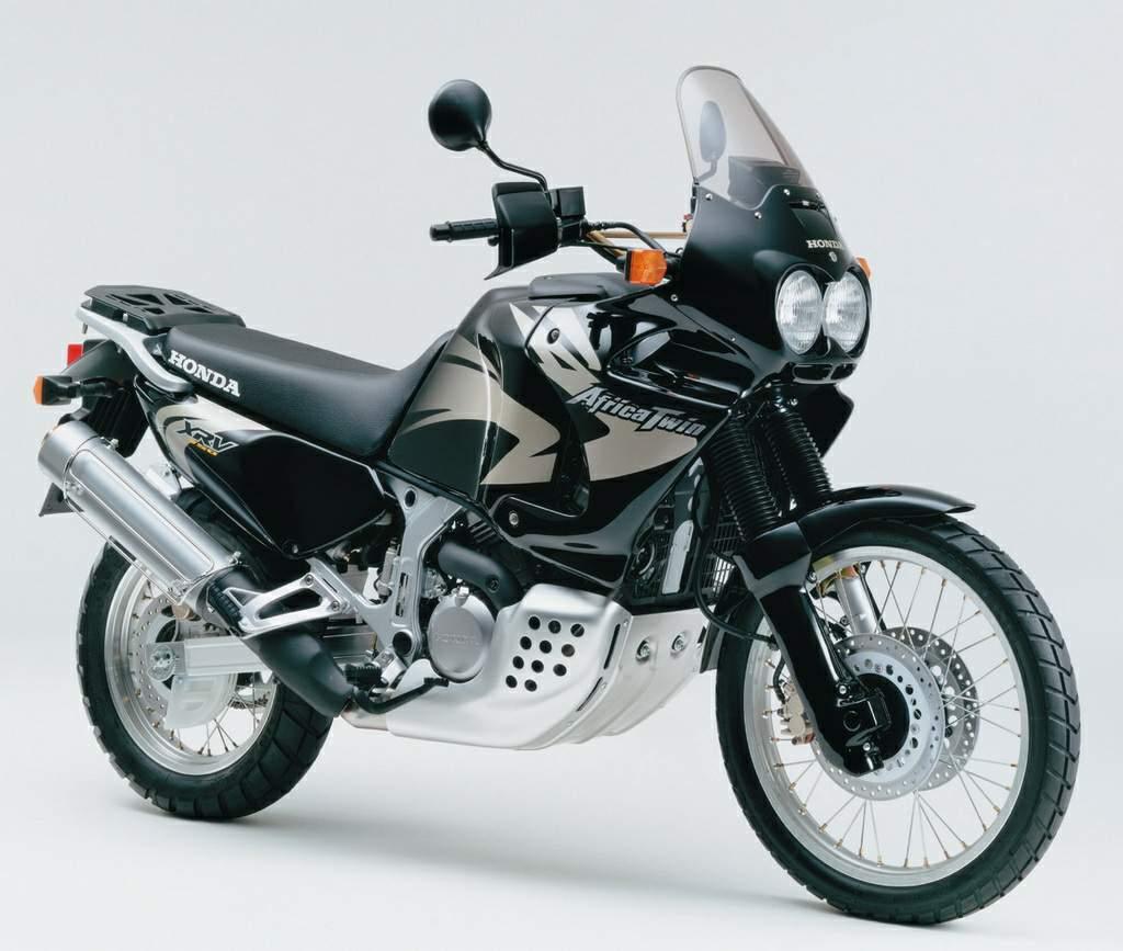 Black Honda XRV750 Africa Twin history