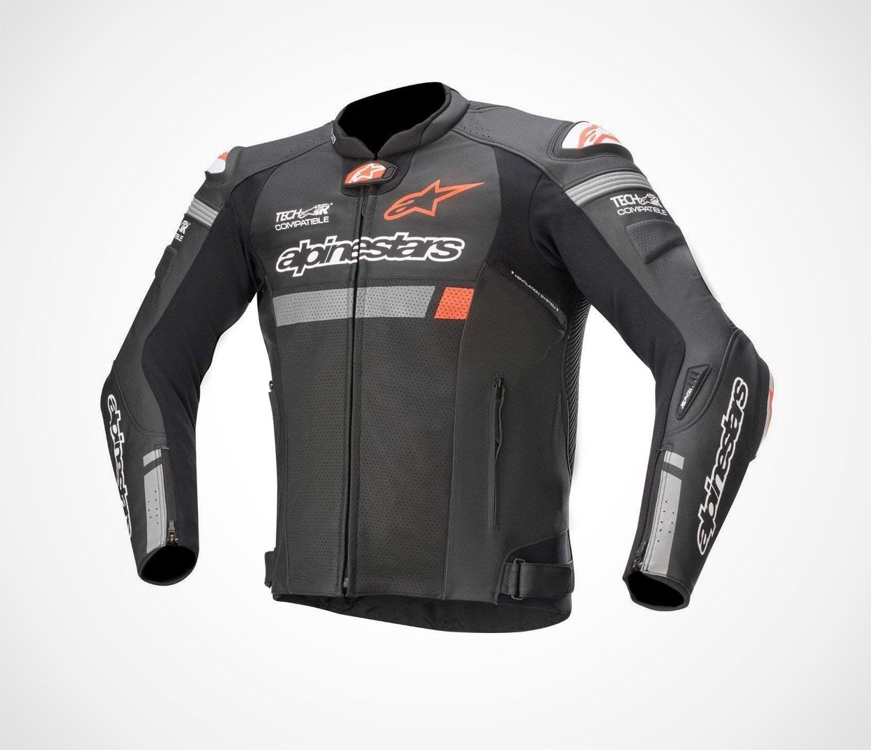Black Leather Motorcycle Jacket Tech-Air