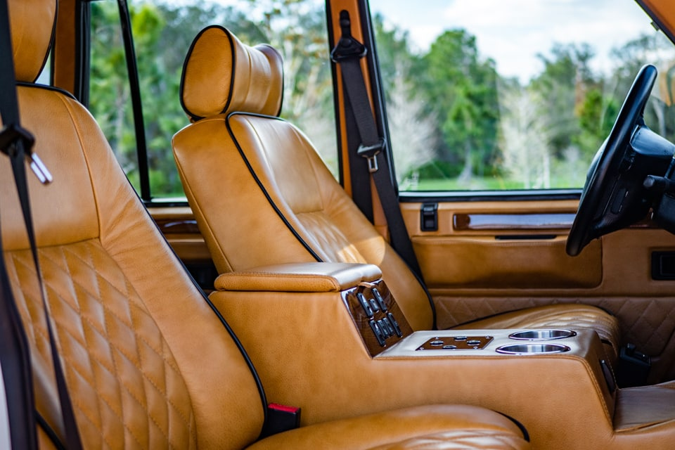 Electric Range Rover leather seats