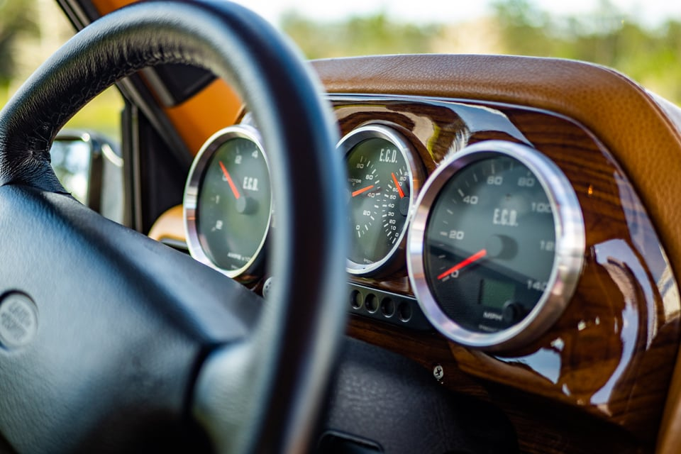 Electric Range Rover instrument cluster