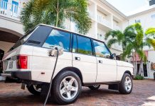 Electric Range Rover charging