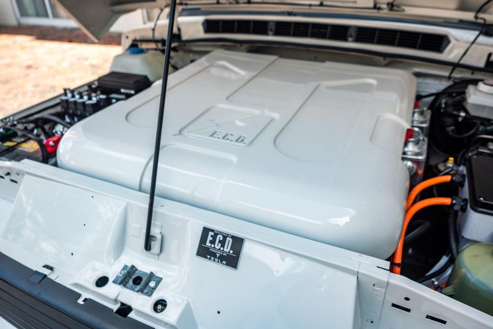 Electric Range Rover engine bay