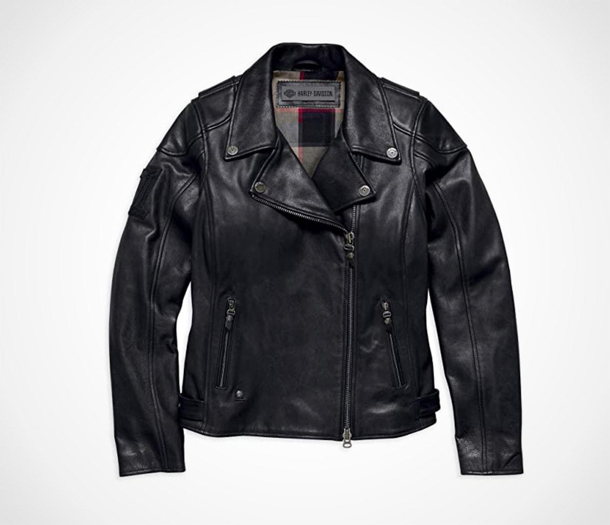 Harley-Davidson Women's Alameda Heavy-Weight Leather Biker Jacket