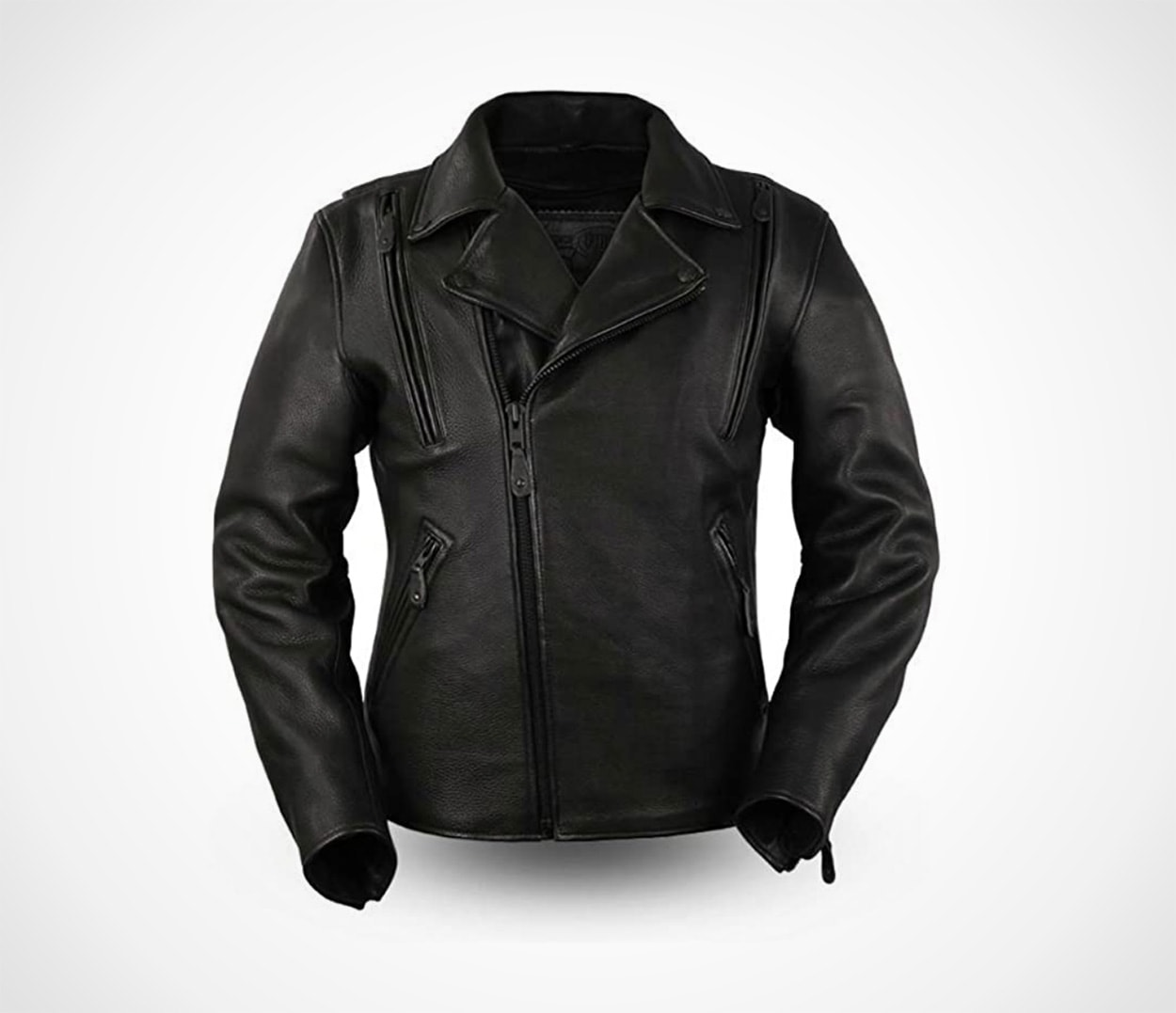 First MFG Co. - Night Rider - Men's Motorcycle Black Leather Jacket