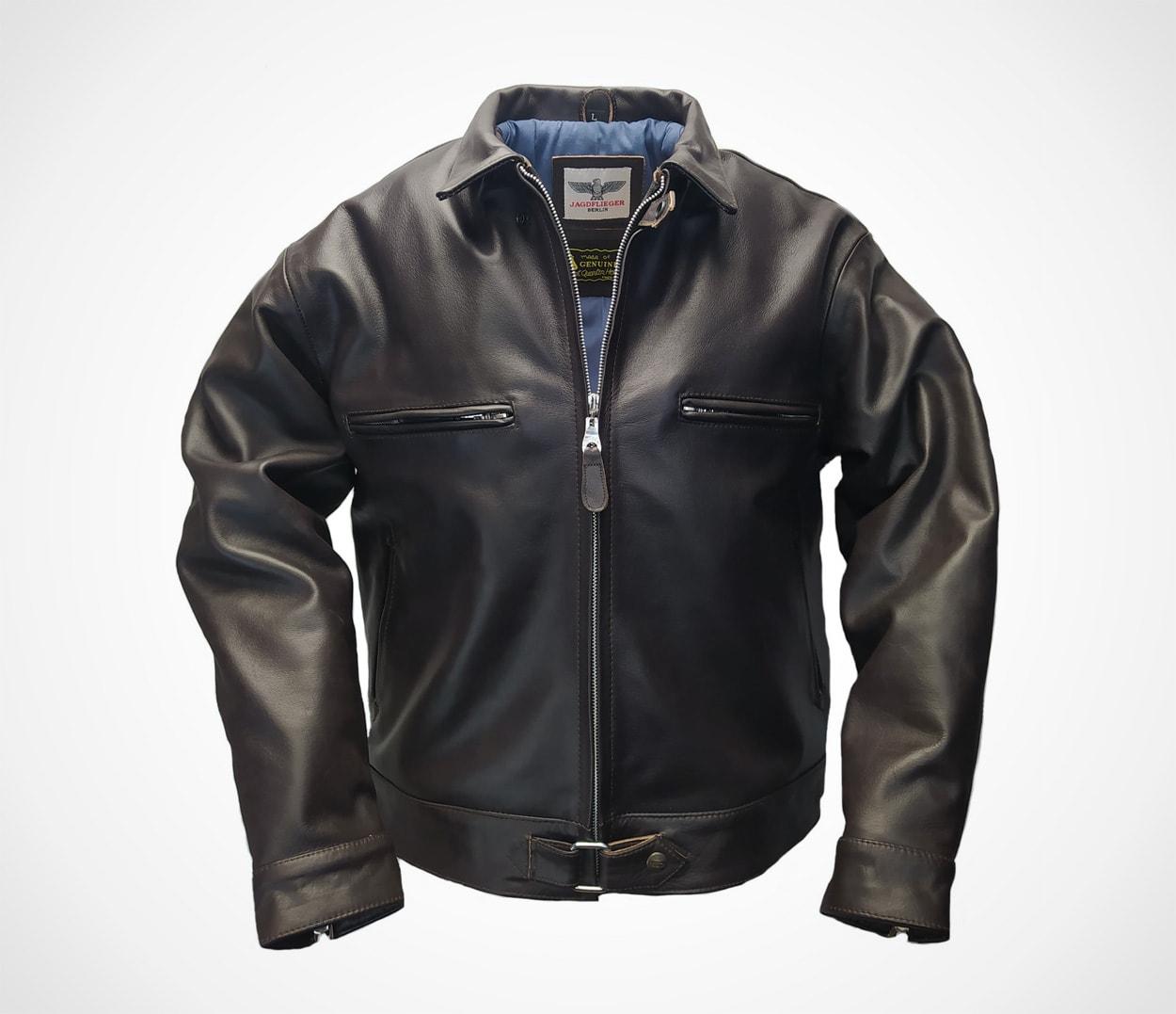 Noble House Luftwaffe BF-109 Fighter Pilot Leather Jacket, Steer Hide Flight jacket