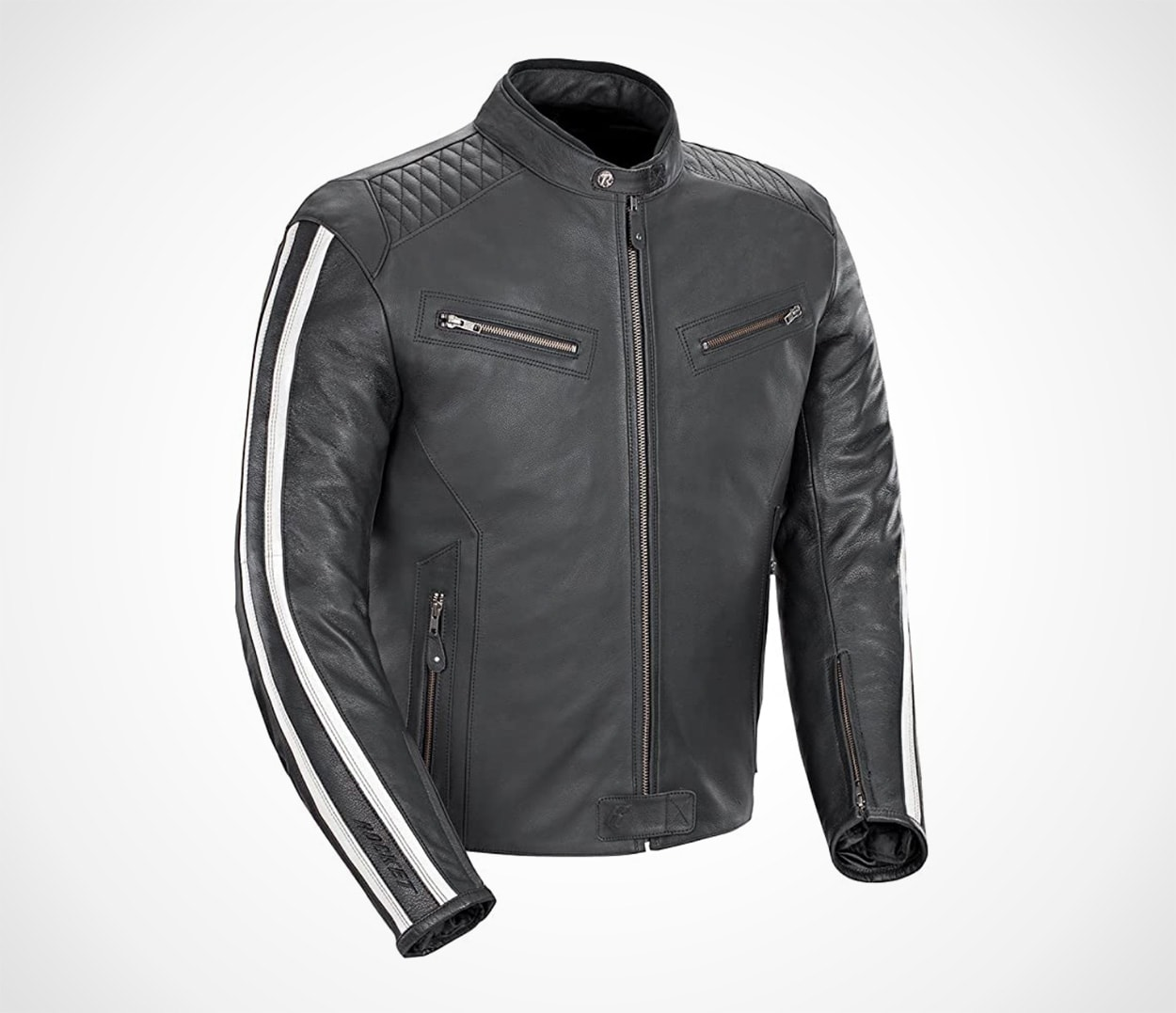 Joe Rocket Vintage Rocket Men's Black Leather Motorcycle Jacket