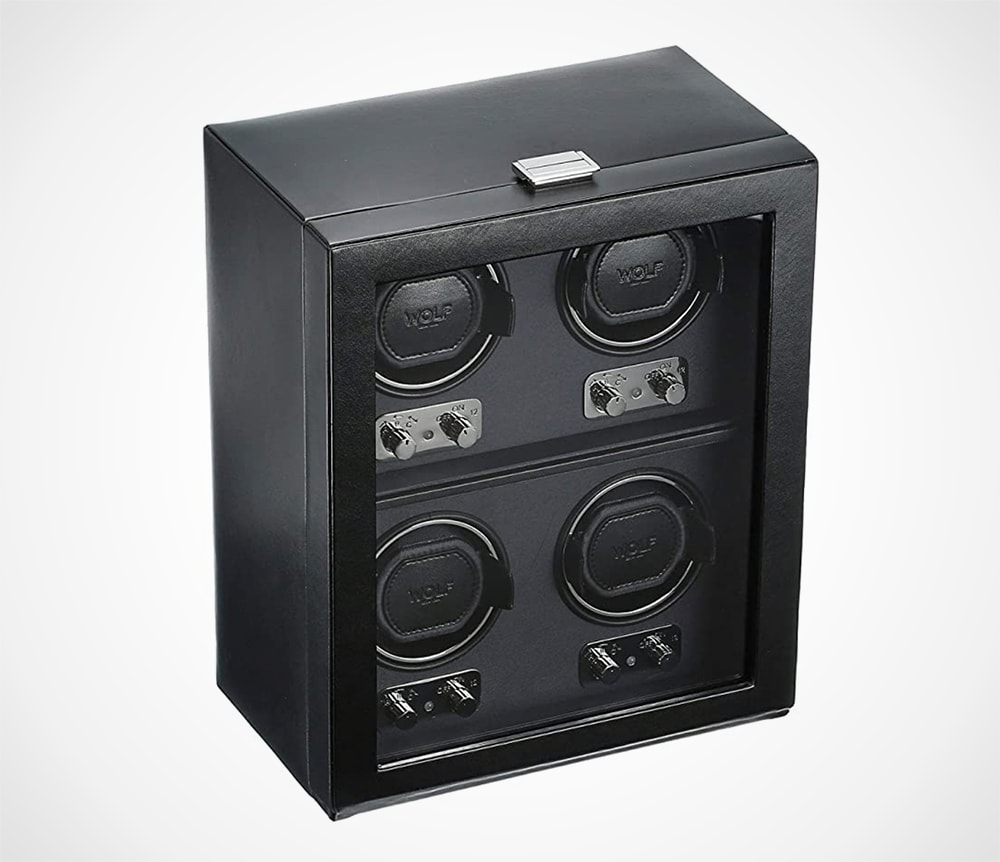 4 Piece Watch Winder with Cover
