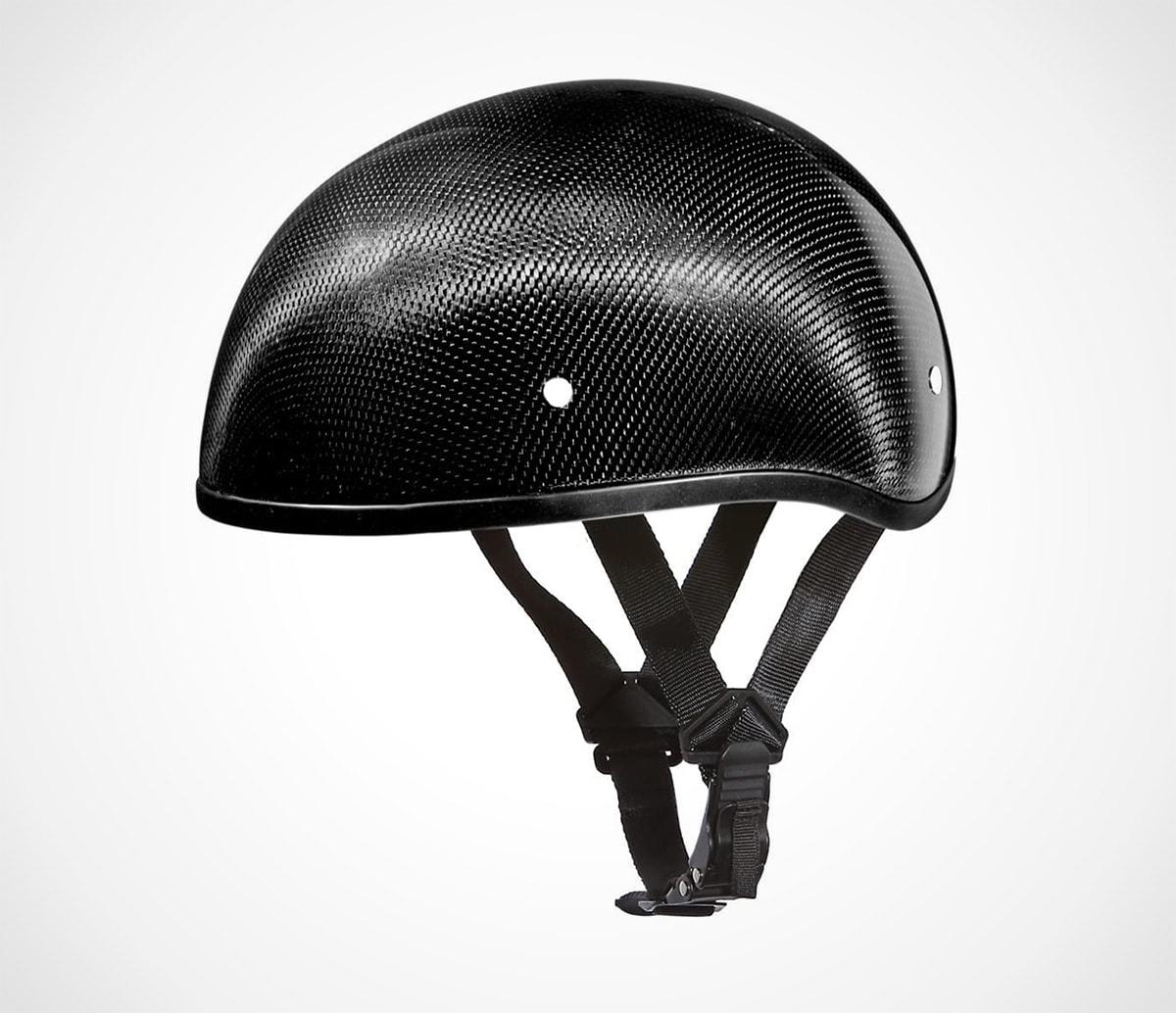 Carbon Fiber Daytona Half Helmet Skull Cap- DOT Approved