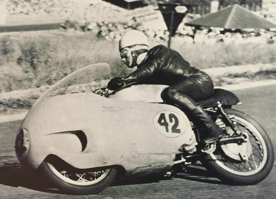 Keith Campbell on the Moto Guzzi V8
