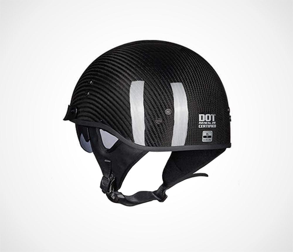 Lightweight Half Helmet with Windshield