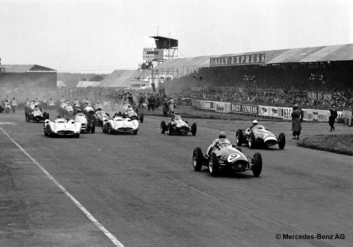Mercedes-Benz Formula One At Silverstone in 1950s