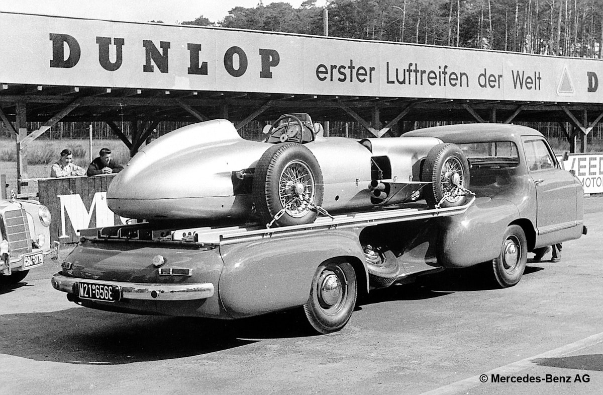 Mercedes-Benz racing car transporter, 1955