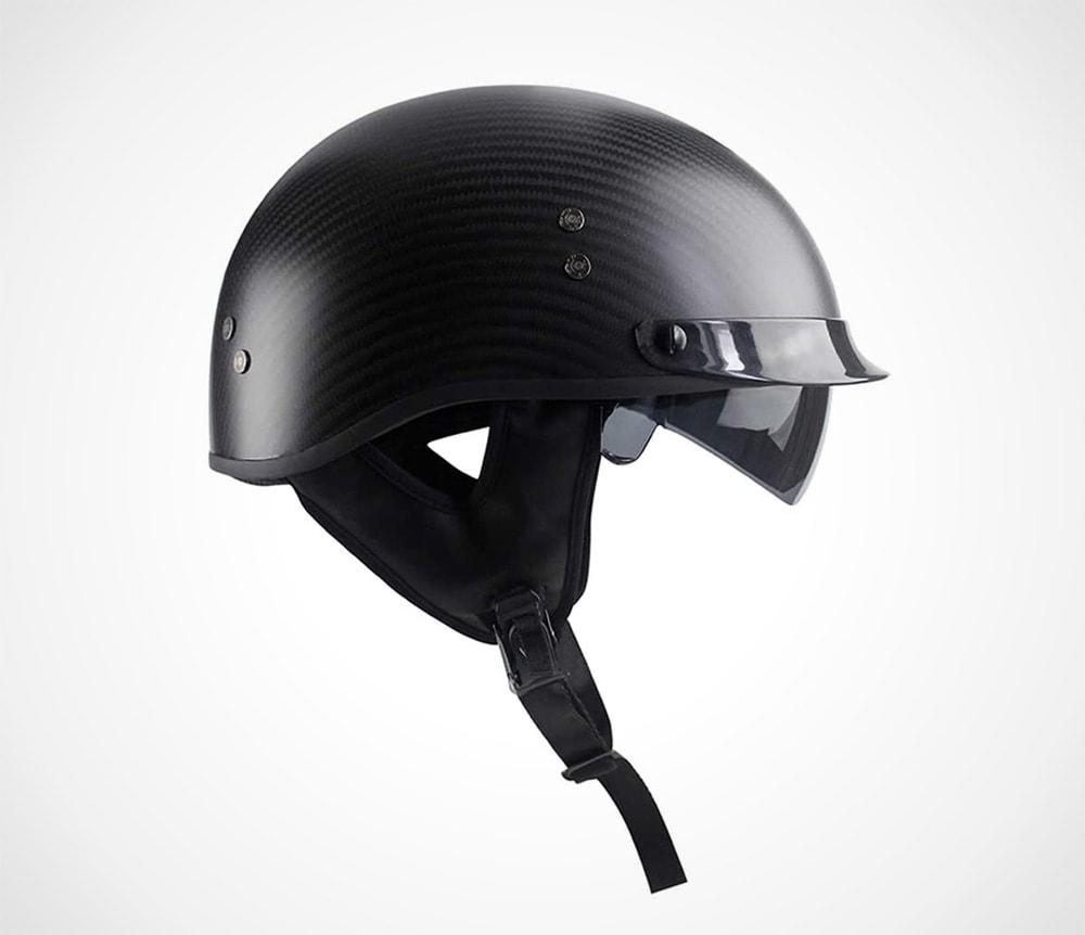 Vintage Carbon Fiber Half Helmets