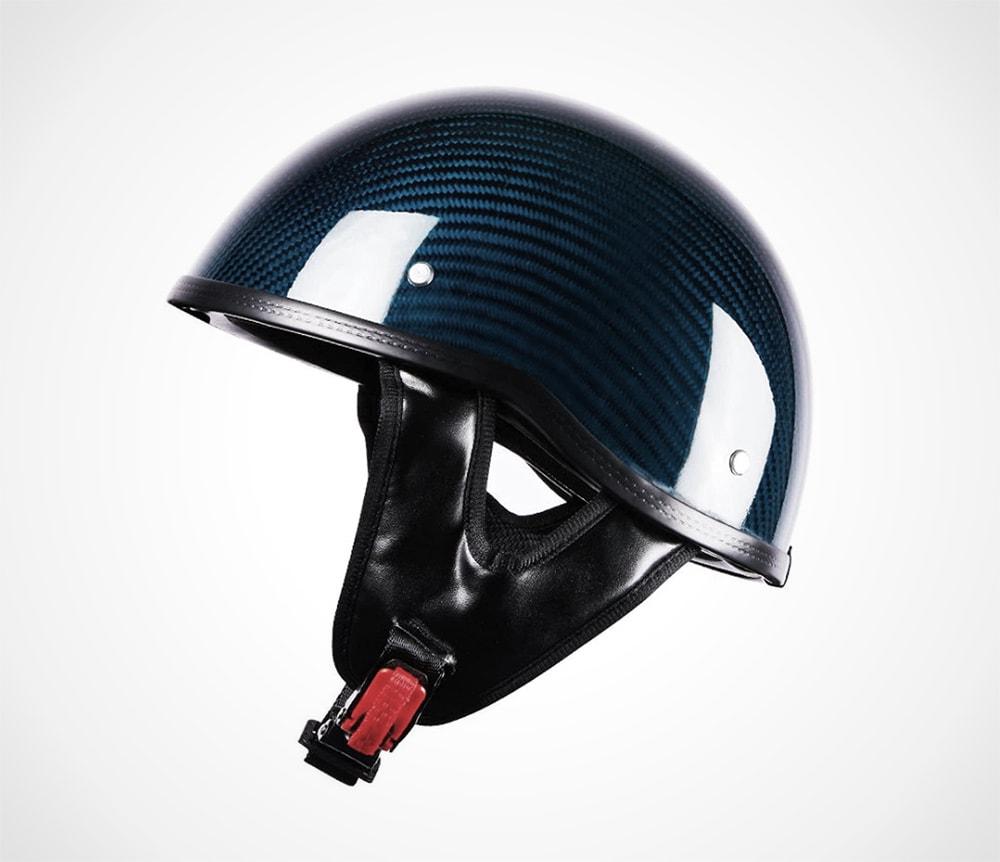blue carbon fiber helmet