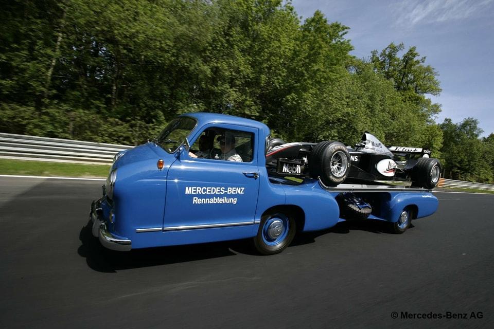 Rebuilt Mercedes-Benz Racecar Transporter: The Blue Wonder