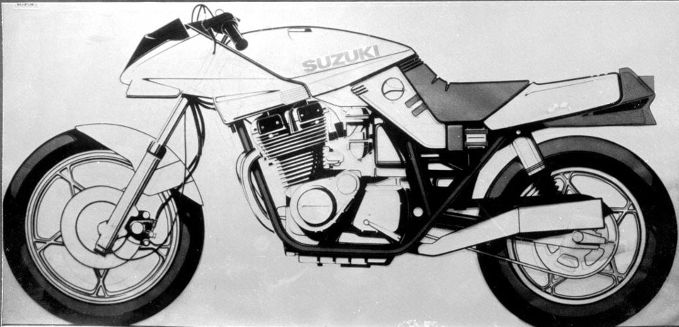 Early Suzuki Katana concept drawing