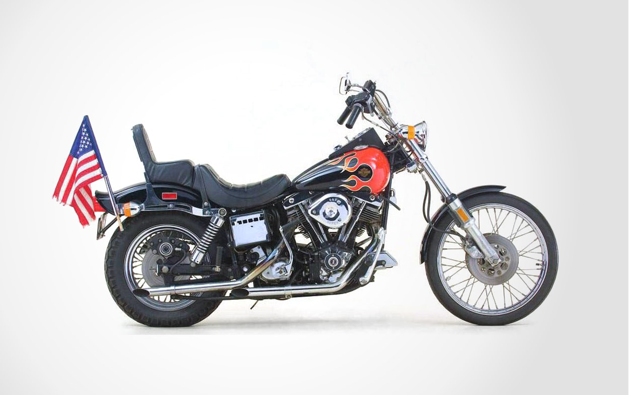 Harley-Davidson FXWG With Flames