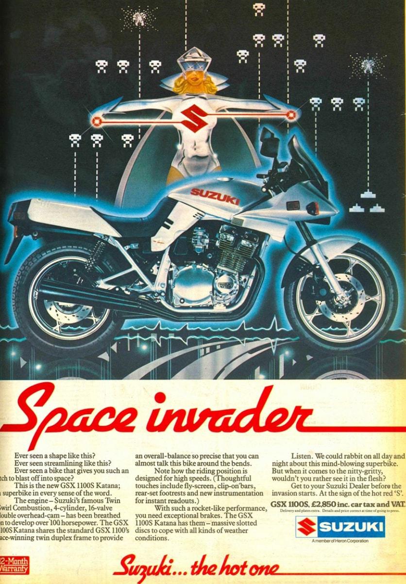 Suzuki Katana GSX 1100S advertisement